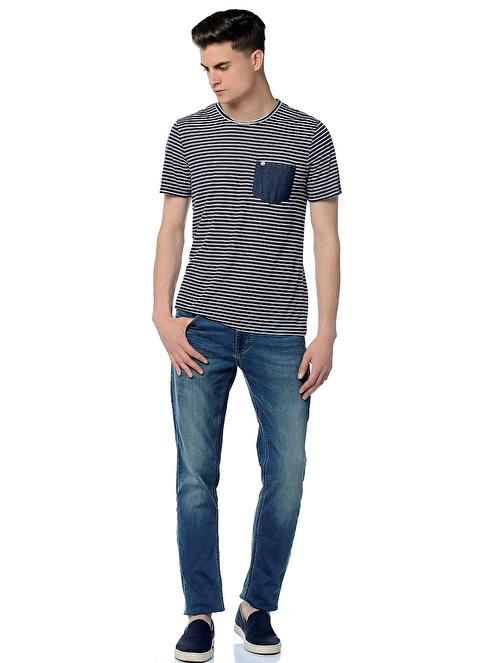 Mustang Jean Pantolon | Düşük Bel Slim Mavi